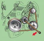 Замена ремня натяжителя – Натяжитель ремня генератора, замена ролика натяжителя ремня генератора